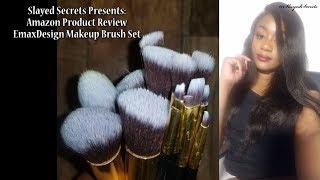 Amazon Product Review: EmaxDesign Makeup Brush Set | Slayed Secrets