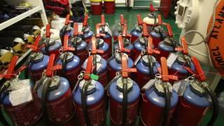 Playing with 100 Fire Extinguishers | Life at Sea