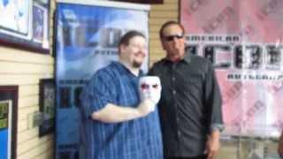 Sting taking photos with me and Hulk Hogan watching