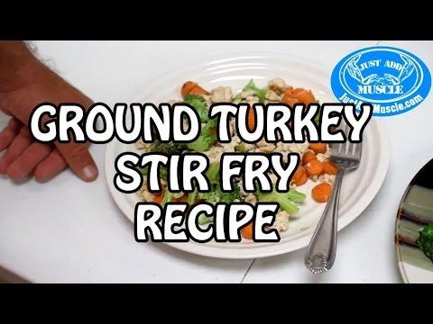 Ground Lean Turkey Recipe with stirfried Veggies
