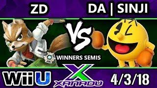 S@X 244 Smash 4 - ZD (Fox) Vs. DA | Sinji (Pacman) - Wii U Winners Semis