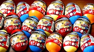 20 Surprise eggs Kinder Surprise Cars Welly