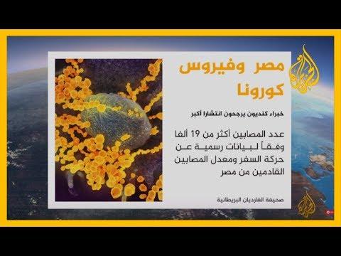 انتشار الفيروس في مصر
