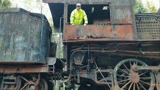 Abandoned Railway Deep In The Woods Of Maine With Dozens Of Freight Cars