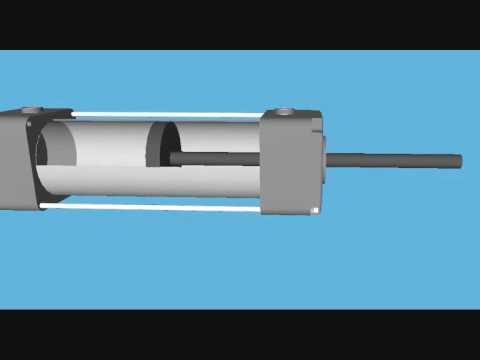 Animacion cilindro neumatico doble efecto