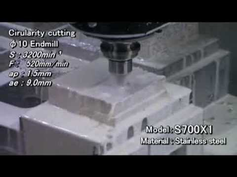 S700X1 high torque Machining example (Stainless steel)