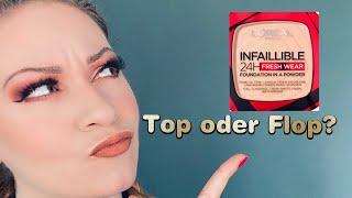 Loreal Infallible fresh wear Powder Foundation Review | Mit Ergebnis nach einem Tag