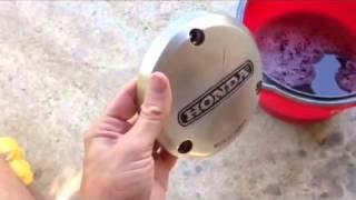 how to polish aluminum engine covers