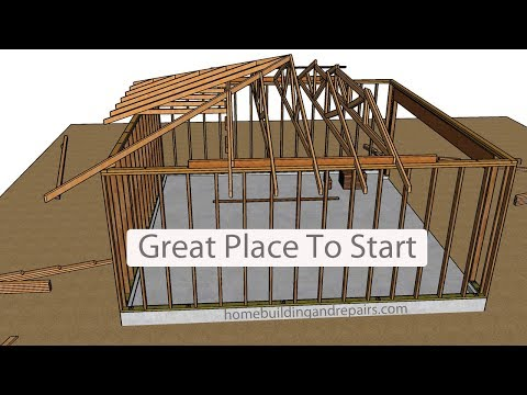 How To Layout And Build Garage Hip Roof Using Engineered Trusses