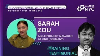 Workshop Testimonial by Sarah Zou