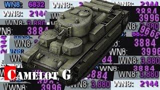 Самый лучший танк для поднятия статистики WN8 WIN8 ВН8 ВИН8 Camelot G обзор видео гайд.