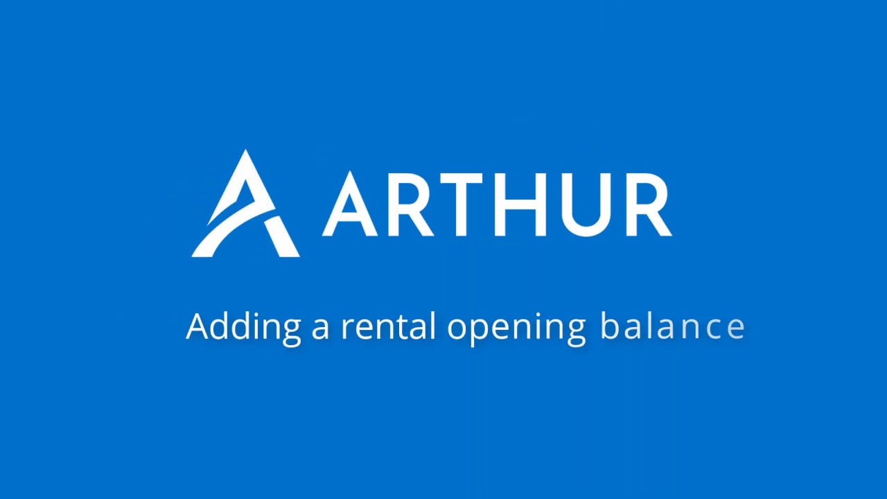 Watch How to add a rental opening balance