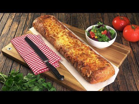 Una lasaña diferente: un plato completo dentro de un pan