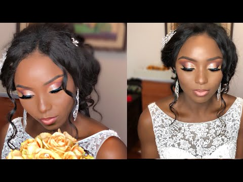 NIGERIAN CLIENT || BRIDAL HAIR AND MAKEUP TRANSFORMATION || @HettyAmens