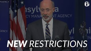 Governor Wolf imposes new restrictions in Pennsylvania as COVID-19 cases surge