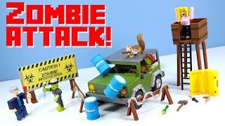 ROBLOX Series 2 Zombie Attack Set & Apocalypse Rising 4x4 Toy Review