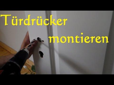 Türdrücker Montieren anbringen - Türbeschläge anbringen - Türgriff Rosette Montage anbauen