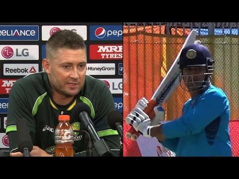 2015 WC: What Clarke said on Dhoni's captaincy