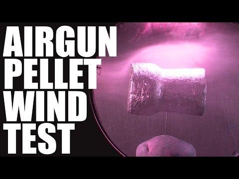 Pellet vs Wind – Slo mo flight test