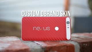 Red and White Nexus 6P Custom dbrand Skin! (Installation and Review)