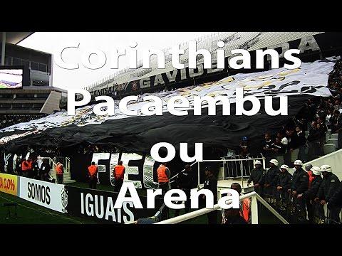 Pacaembu ou Arena Corinthians? Veja o grito Bando de Loucos nos dois estádios!