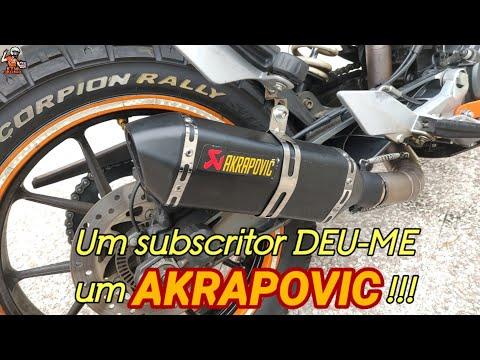 KTM Duke 125 Akrapovic Montagem do Escape OFERECIDO por um subscritor! KTM Laranjinha