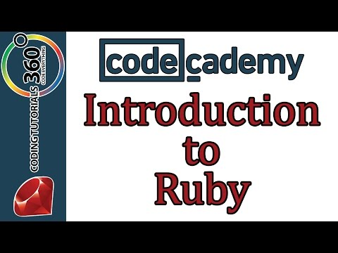 Learn Ruby with Codecademy: Introduction to Ruby
