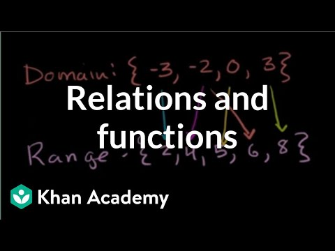 Relations and functions (video) | Khan Academy