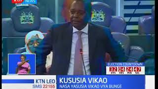 Mbunge wa Kikuyu awasilisha hoja bungeni akitaka sajili ya mahudhurio ya wabunge kuwekwa wazi