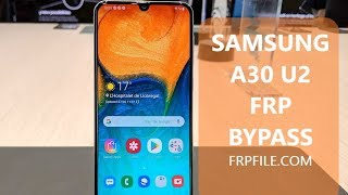 SAMSUNG A30 SM-A305F FRP Bypass Google Account PIE 9 0 without pc Or