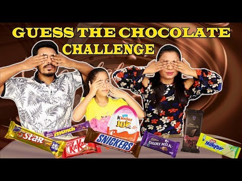 CHOCOLATE CHALLENGE I Kid Chocolate Challenge I GUESS THE CHOCOLATE CHALLENGE