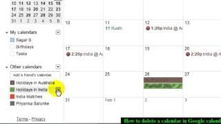 How to delete a calendar in Google calendar
