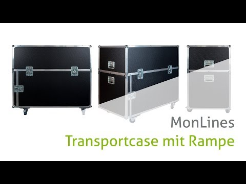 Video MonLines Transportbox mit Rampe für Displays