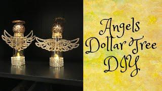 Dollar Tree Christmas Angels DIY
