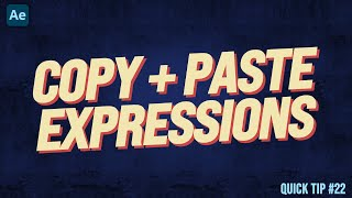 How To Copy And Paste Expressions - Adobe After Effects Tutorial