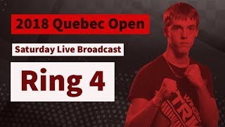 14-15 Boys Forms/Weapons/Sparring | Ring 4 Saturday Live Broadcast | 2018 Quebec Open