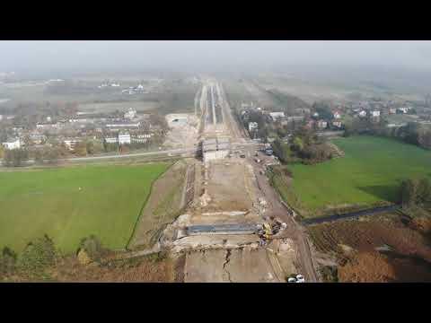 Planowana droga S19 odc.  3 obwodnica m.  Kraśnik - widok lotniczy - październik 2020 r.