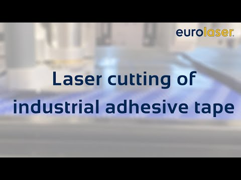 Laser cutting of industrial adhesive tapes