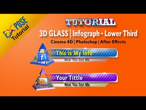 Tutorial Lower Third Glass | Cinema 4D - Photoshop - After Effects