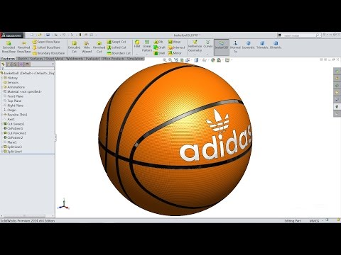 Solidworks Tutorial | Sketch Basketball In Solidworks | Solidworks Mp3