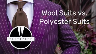 THE WOOL VS. POLYESTER SUIT. WHAT SUITS YOU?
