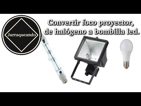 Convertir foco proyector, de halógeno a bombilla led