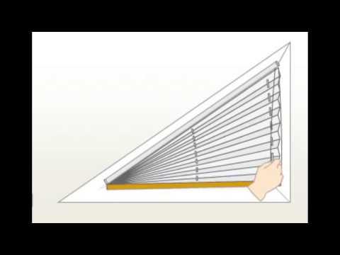 Plissee-Funktion am Dreieckfenster