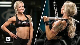 Sculpted Back & Biceps Gym Workout Routine | IFBB Bikini Pro Amy Updike by Bodybuilding.com