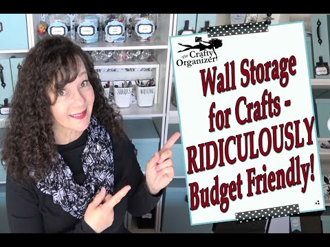 How to organize your art and craft room on a budget
