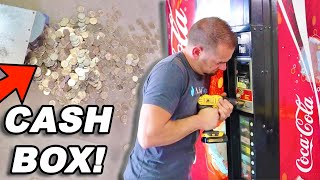 Found $200 Breaking Into Soda Pop Machine!