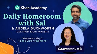 Angela Duckworth talks about helping children develop grit and resiliance | Homeroom with Sal