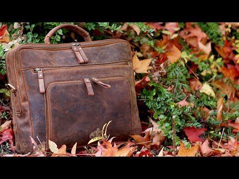 """Ein Hingucker! Echtleder Notebooktasche (15,6"""") """"San Francisco"""" von Donbolso // Businesstasche"""