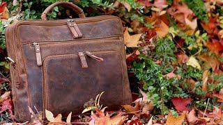 Ein Hingucker! Echtleder Notebooktasche (15,6
