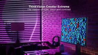 YouTube Video UzbggJcTPgk for Product Lenovo ThinkVision Creator Extreme (27-inch monitor) by Company Lenovo in Industry Monitors